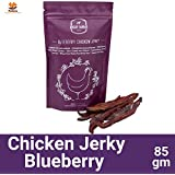 Petsutra Doggie Dabbas Chicken Jerky Dog Treat - Blueberry Flavour - 85 Gms