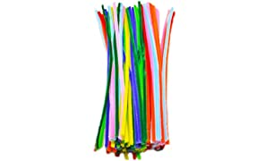 ProjectsforSchool Stem Craft Multi Colored Pipe Cleaner 100 Pcs for Steam Art and Craft DIY Projects