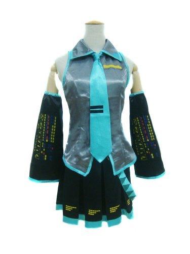 Hatsune Kostüm (Vocaloid Hatsune Miku Kostüm in M für Cosplay Karneval oder Kostüm)