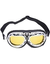 SODIAL(R) Gafas Lente Lens Tipo Aviador Proteccion para Moto Harley