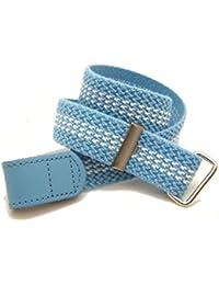 VAELLO - Cinturón elástico ajustable con cierre piel con velcro ideal para tallas pequeñas, para infantil
