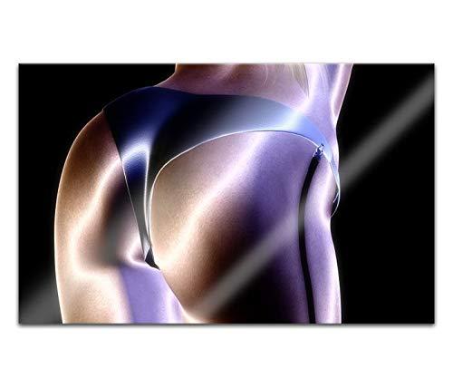 Acrylglasbilder 80x50cm Sexy Frau Erotik Pose Po abstrakte Kunst nackte Körper Acryl Bilder Acrylbild Acrylglas Wand Bild 14H733