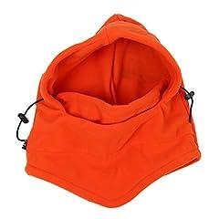Idea Regalo - SODIAL (R) Pazzo Shopping 6 in 1 vello morbido termico Sottocasco Cappello cappuccio polizia Swat sci bici Maschera para vento Nuovo Berretto scaldacollo (arancione)