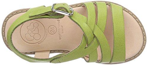 Pololo Nina, sandales ouvertes fille vert (Pistazie)