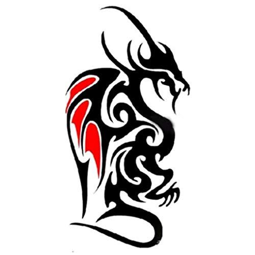 EROSPA® Tattoos-Bogen / Sticker temporär - Drachen / Dragon - Tribal-Design (Dragon Tribal Tattoo)
