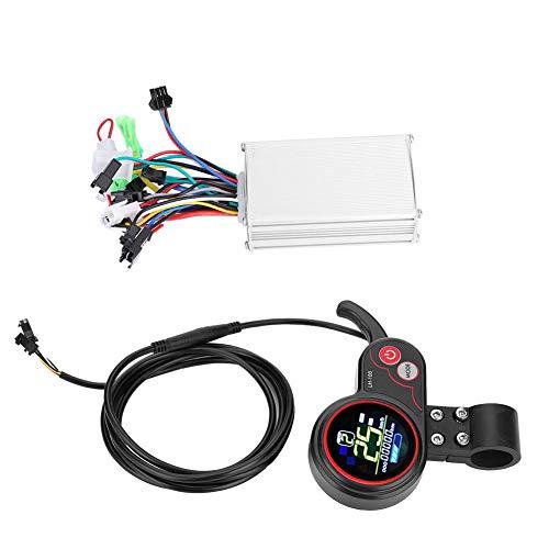 Alomejor Controller und LCD-Anzeige 24 V / 36 V / 48 V / 60 V 250 W / 350 W Geschwindigkeitsregler mit Wasserdichter LCD-Anzeigetafel für Elektrischen Fahrrad-Roller(24V) Motor Lcd