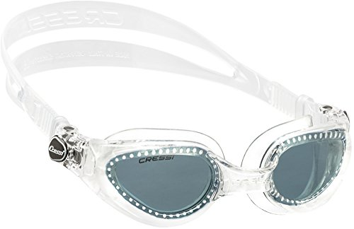 Cressi Right - Gafas de natación para adulto, transparente / gris