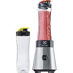 Electrolux ESB2500 Sportsblender Mini Frullatore, Funzione Frappè, 23.000 Giri/min, Acciaio, 300 W, 0.6 Litri, Bottiglie: fumo, Plastica, Argento