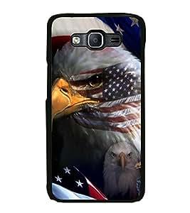 PrintVisa Hawk On Flag High Gloss Designer Back Case Cover for Samsung Galaxy On7 Pro :: Samsung Galaxy On 7 Pro (2015)