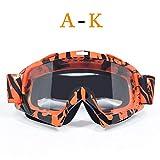 DFGDH Motorrad Schutzbrille Mann Frau Motocross Brille Brille Mx Offroad Helm Brille Ski Sport Motorrad Dirt Bike Racing