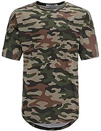 c8cfd62e25 Camiseta Camisa De Camuflaje Militar Camiseta para De Casual Hombres Verano  Básica Moda Completi De Cuello Redondo De Manga Corta…