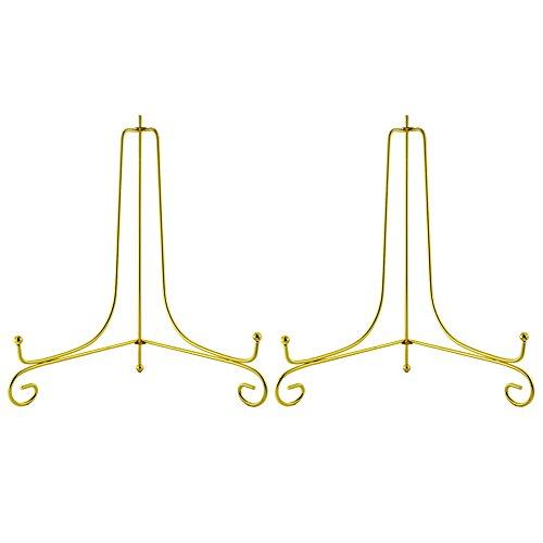 Tincogo Gold Metall Tellerständer Tellerhalter Eisen Staffelei Display Ständer für Schüssel Teller Kunst Foto Bilderrahmen(10 Zoll) Teller 10