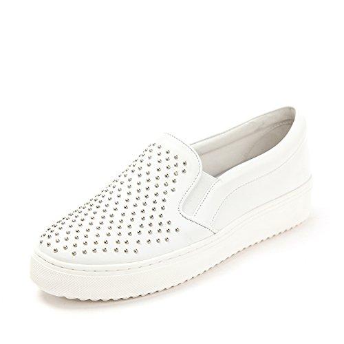 Primavera scarpe piattaforma di rivetto/Un pedale scarpe da piattaforma Bianco