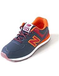New Balance 574 navy/red
