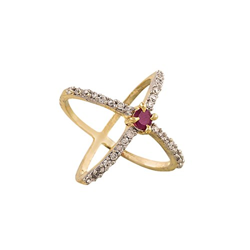 Zeneme Premium American Diamond Gold Plated Ring for Women  available at amazon for Rs.99