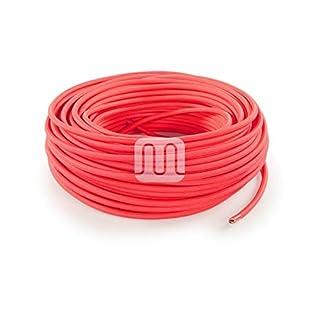 Textilkabel für Lampe 1 Meter 3 adrig Flamingo rot (3x0,75mm2) SuperFlex | Lampenkabel | Textilummanteltes Stoffkabel zum bau dekorativer Textilkabellampen | Zuleitung für Lampe | Pendelleuchten