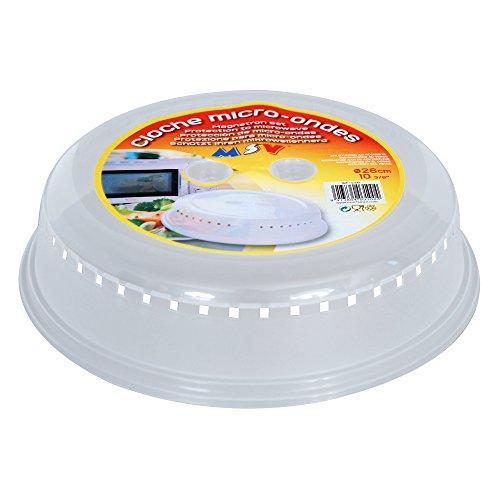 MSV MS308 - Tapa de plástico para microondas, diámetro de 27 cm, altura de 7 cm
