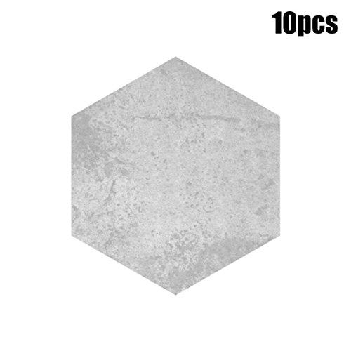Manadlian Wandsticker ❤️20x23cm 10 Stück Selbst Klebstoff Fliese Bodenwand Abziehbild Aufkleber DIY Küche Bad Dekor (E)