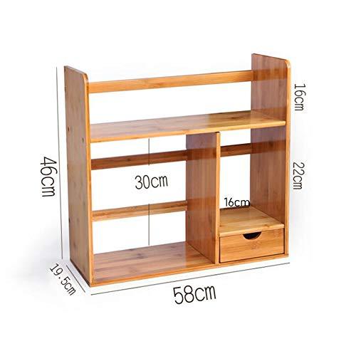 Bücherregale Natürlich Bambus Veranstalter Desktop Stand Anzeige Lager Büro Zuhause Haushalt CJC (größe : T5) T5-desktop