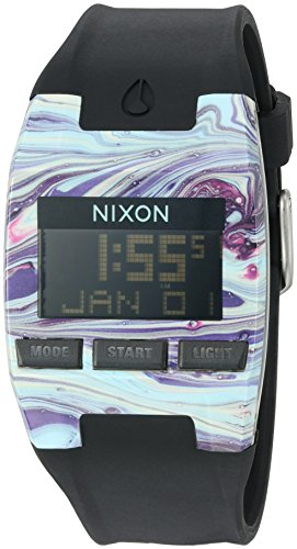 NIXON Men's Digital Automatic-self-Wind Watch with Silicone Strap A4082151-00