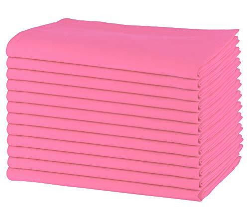 ng mit 12 übergroßen Servietten, 100% Baumwolle, 50 cm x 50 cm, Schwerer Stoff, für den täglichen Gebrauch mit Gehrungsecken - violett ()