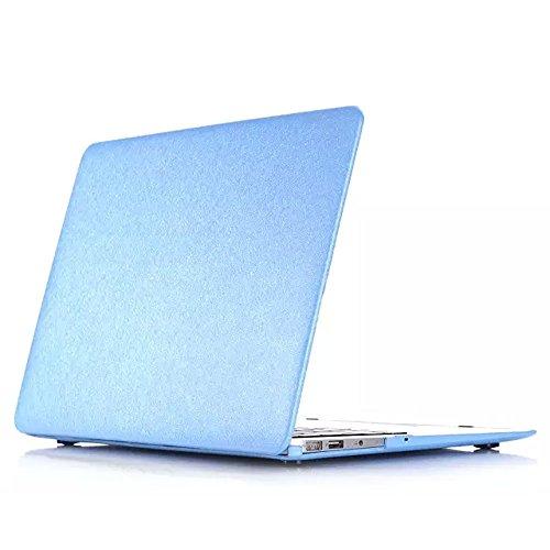 Blaue Seide Shell (STONG Harte Hülle Seide Muster Leder Decke Snap on Shell schützende Haut ultra dünne leicht Gewicht für Apple MacBook Air 11.6-13.3 Zoll Macbook 12 Zoll Macbook Pro Retina 13.3-15.4 Zoll Macbook Pro 11.6-15.4 Zoll (Blau, Macbook 12 (2015 Release)))
