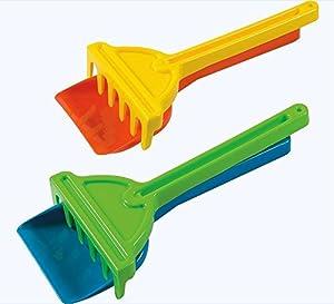 Androni Giocattoli- Summer Time Juego de Paletta y Rastrillo de plástico, 26 cm, Colores Surtidos (4301)