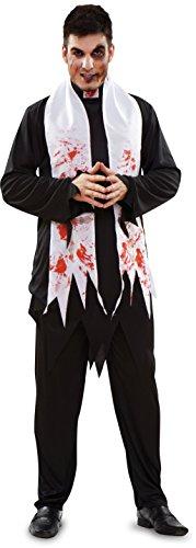 Imagen de disfraz de cura zombie para halloween de hombre talla m l