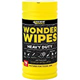 Wonder Wipes Heavy Duty - Textured Wipes For Cleaning Ingrained Dirt From Hands, Tools and Surfaces, 75 Wipes