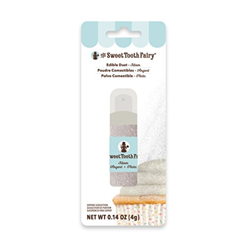 American Crafts The Sweet Tooth Fairy Edible Dust Pump - Pastry Decorating  Powder - 0 14 Ounces, Silver
