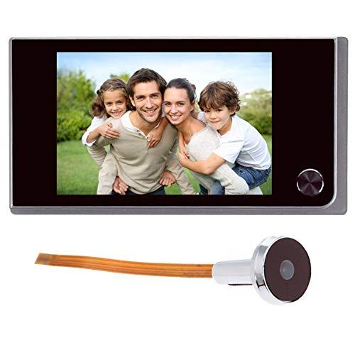 Sonnette numérique LCD 8,9 cm 120 degrés Judas électronique couleur infrarouge avec caméra infrarouge alimentée par 4 piles AAA (non fournies)