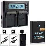Blumax Ersatzakku für Nikon EN-EL14 / EN-EL14a 1100mAh Doppelladegerät für Nikon EN-EL14 Ersatz für Nikon Nikon D3100 D3200 D3300 D3400 D5100 D5200 D5300 D5500 D5600 - Nikon Coolpix P7100 P7000 P7800