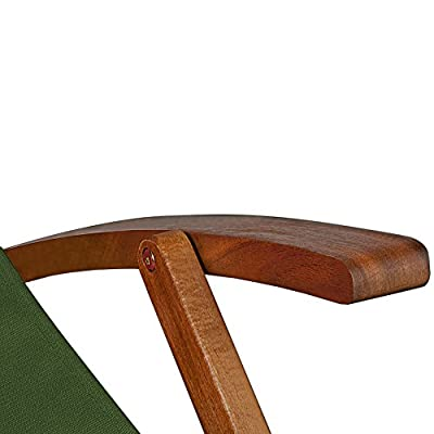Deckchair Sonnenliege Liegestuhl Strandstuhl Stuhl Gartenliege Relaxliege Holz 94x94x60 cm von Deuba - Gartenmöbel von Du und Dein Garten