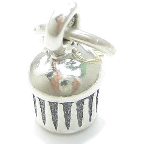 Fairy Cake in argento sterling 925 a forma di x per Muffin, cupcake charms CF5446 regina