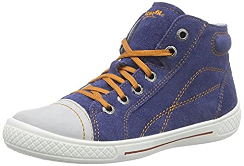 Superfit TENSY 600103 Jungen High-Top Sneaker, Blau (INDIGO KOMBI 88),