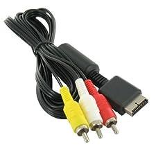 giZmoZ n gadgetZ Câble Audio vidéo AV vers 3 RCA HD 1,8 m pour Sony Playstation 1 2 3 (PS1, PS2, PS3)