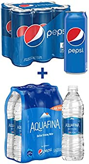 Pepsi Soft Drink 6 x 355 ml + Aquafina Water 6 x 500 ml
