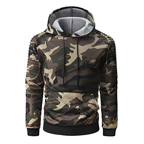 Discount boutique felpa con cappuccio da uomo camo pullover a maniche lunghe giacca slim fit con cappuccio top casual