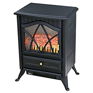 Oypla 1850W Log Burner Flame Effect Electric Fireplace Stove Heater