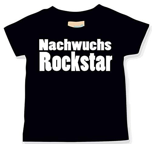 Schwarz Babyshirt (Nachwuchs Rockstar; BabyShirt; schwarz; Gr. 086/092; 12-24 Monate)