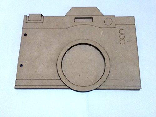 Álbum de madera DM forma de cámara de fotos ideal para Scrapbooking