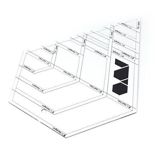 Wanfor DIY Messanleitung Quilten Acryl Formen Cutter Lineal Patchwork Vorlage