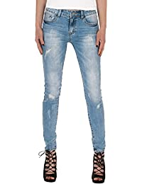 Fraternel Damen Jeans Hose normal waist slim fit used destroyed