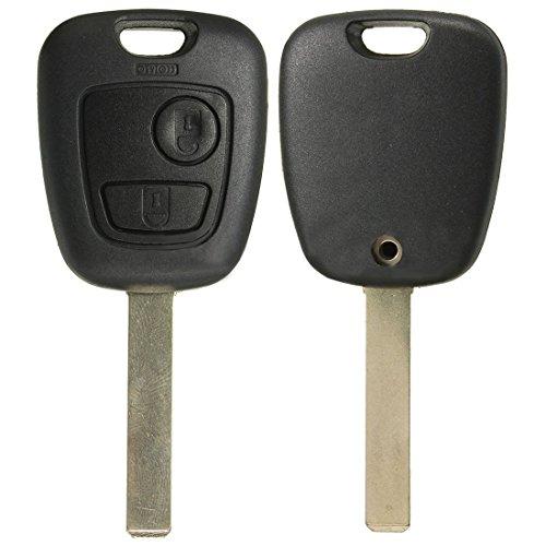 SODIAL R) 2 tasti cover scocca guscio chiave per telecomando batteria pulsanti