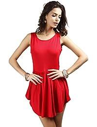 Neighbor Girl mujeres atractivas vendaje de la falda del vestido irregular del dobladillo