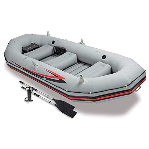 Dmbhw professione rafting all'aperto pesca 4-person canotto gonfiabile il motore può essere installato scialuppa di salvataggio gommone marine addensare materiale in pvc con oars e pompa d'aria