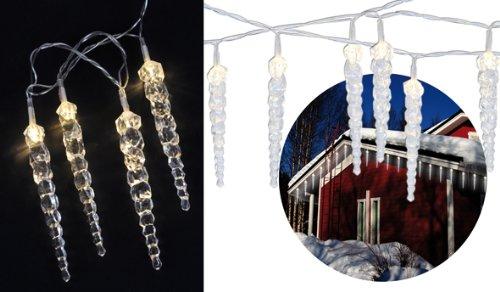 LED Lichterkette in Eiszapfen-Optik für innen und außen
