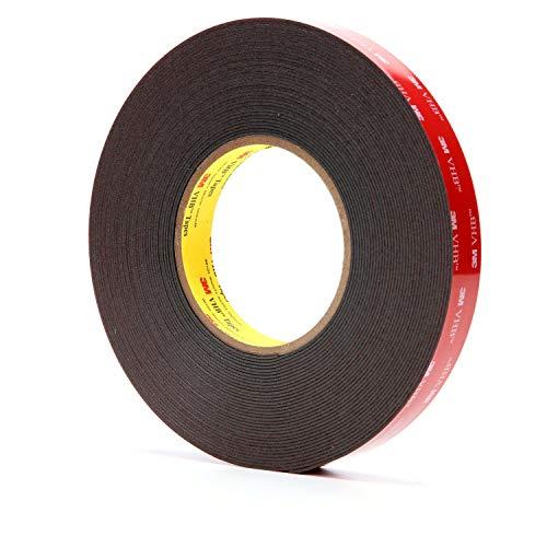 3M VHB Heavy Duty Mounting Tape 5952 Black, 3/4 in x 15 yd 45 mil by 3M (English Manual)