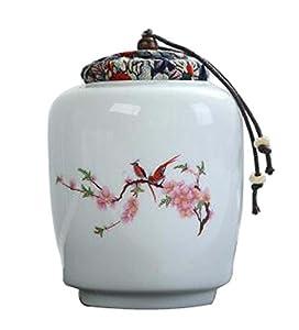 Black Temptation [Oiseau] Boîte à thé en céramique Boîtes à café Spice Jar Tea Caddy