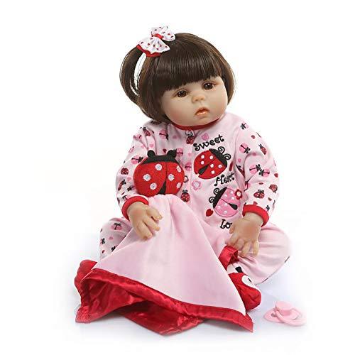 Süße Jugendliche Für Tier Kostüm - Yan Jianliang Wiedergeboren Puppe Mädchen Lebensecht Prinzessin Voll Silikon Baby Puppe süß Tier Kostüm Spielzeug Spielkameraden Zum Kinder GeburtstagGeschenke (48 cm)